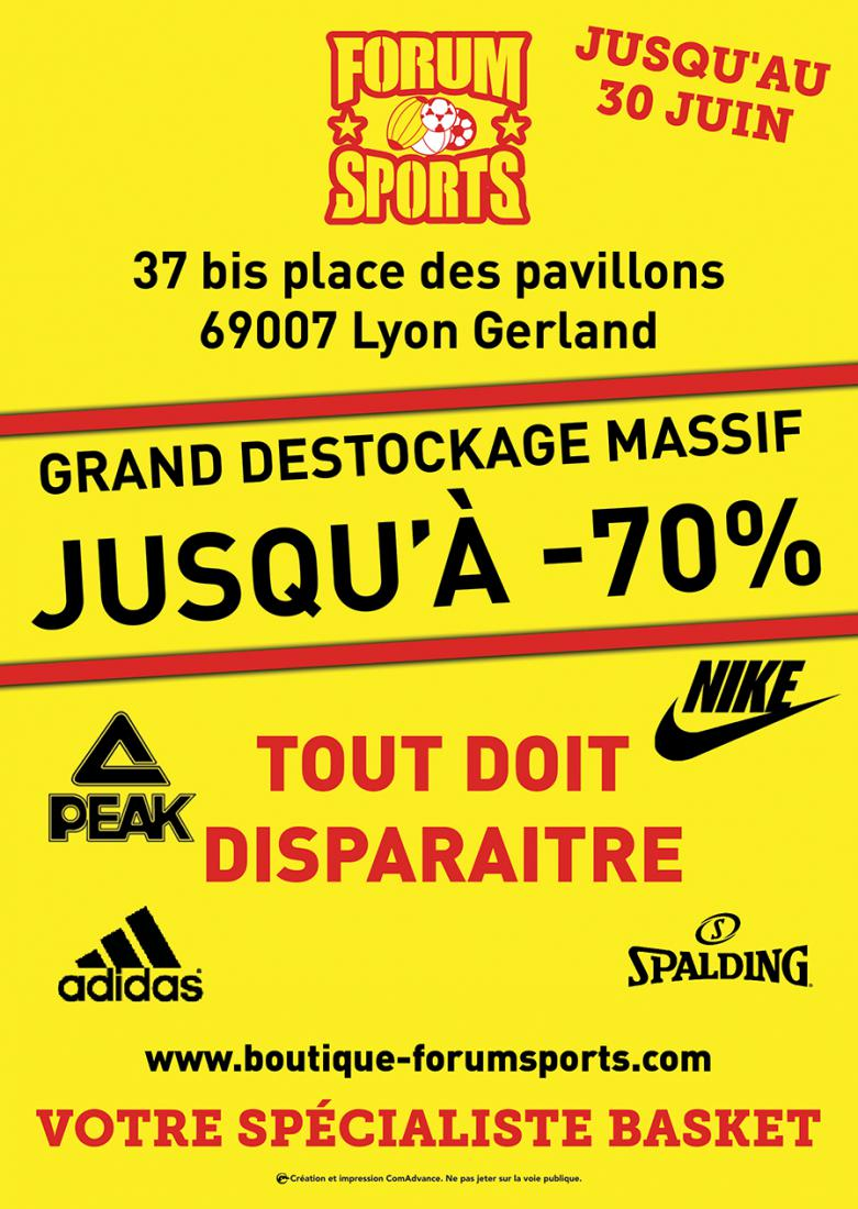 Grand déstockage forum sports  Gerland