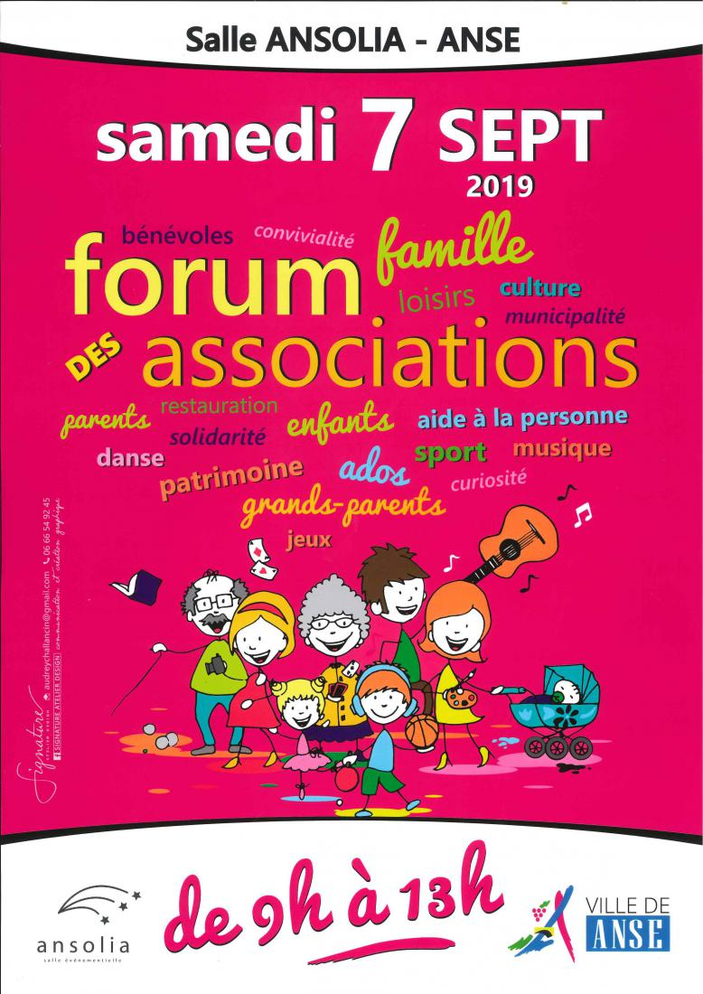 FORUM DES ASSOCIATIONS 7 SEPTEMBRE 2019